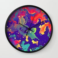 under the sea Wall Clocks featuring Under the Sea by Adaralbion