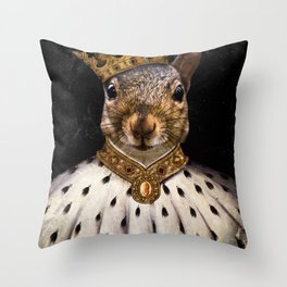 Lord Peanut (King of the Squirrels!) Throw Pillow
