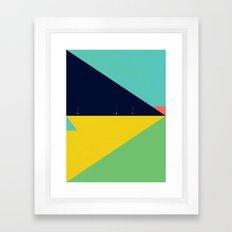 Secret Surf Map (Low Tide) — Matthew Korbel-Bowers Framed Art Print