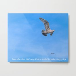 The Simple Life of Seagulls! Metal Print