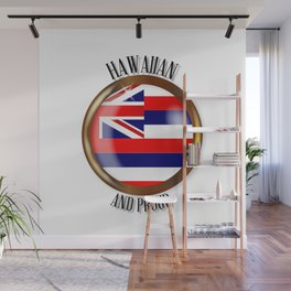 Hawaii Proud Flag Button Wall Mural