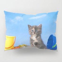 Kitten Fun in the Sun Beach Time Pillow Sham