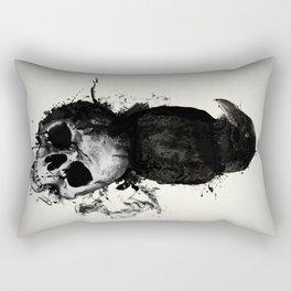 Raven and Skull Rectangular Pillow