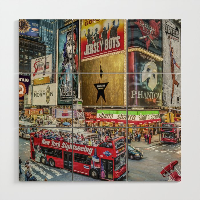 Times Square II Special Edition I Wood Wall Art