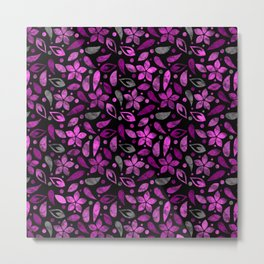 Lovely Floral Pattern ৬ Metal Print