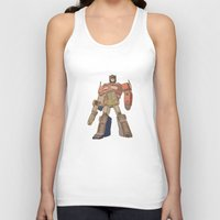 optimus prime Tank Tops featuring Optimus Prime by colleencunha