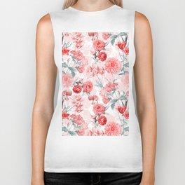 Vintage & Shabby Chic - Rose Blush Garden Flowers Biker Tank