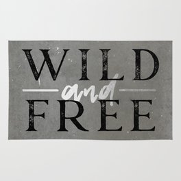 Wild and Free Silver Concrete Rug