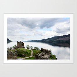 Urquhart Castle on Loch Ness Art Print
