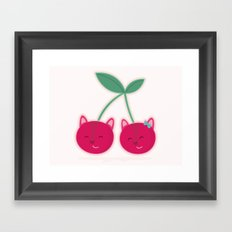 Cherry kitties Framed Art Print