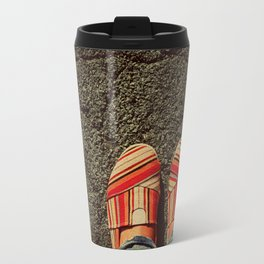 Shoes on Cement Travel Mug