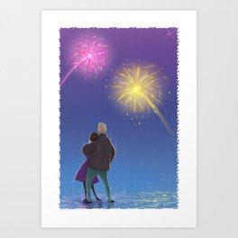Firework Couple Art Print