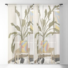 The Plant Room Sheer Curtain