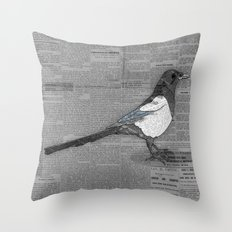 Bad News Bird Throw Pillow