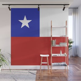 Chile flag emblem Wall Mural