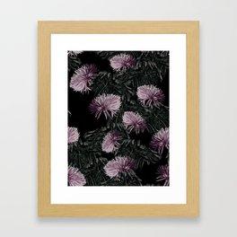 Night Floral Framed Art Print