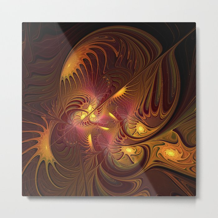 Coming Home, Abstract Fantasy Fractal Art Metal Print