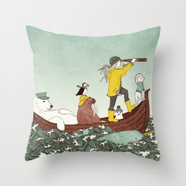 Arctic Adventure Throw Pillow