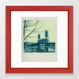 Steel Bridge - Polaroid Framed Art Print