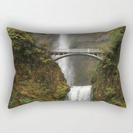 Multnomah Falls in Autumn Rectangular Pillow