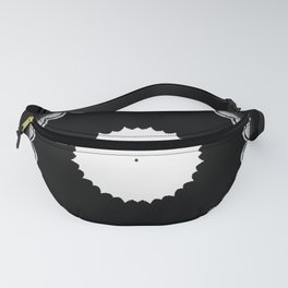 Black and White Sun Flower Abstract Fanny Pack