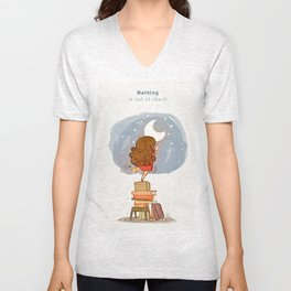 Nothing is out of reach Unisex V-Neck