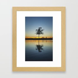 Simple and Alone  Framed Art Print