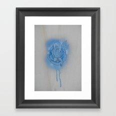 Literary Blues Framed Art Print