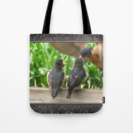 The Adult Barn Swallow Arrives with Lunch for One Tote Bag