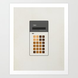 "Vintage Calculator Series: ""Alpha"" Art Print"