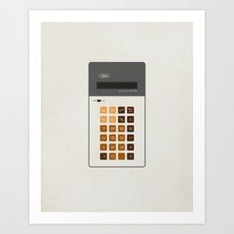"Vintage Calculator Series: ""Alpha"" Art Print"