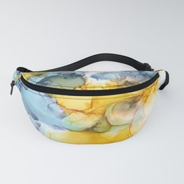 Alcohol Ink 'Fools Gold' Fanny Pack