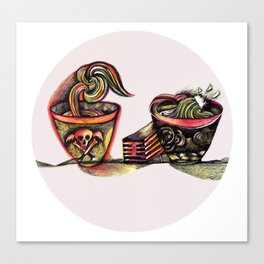 Two Bowls Canvas Print