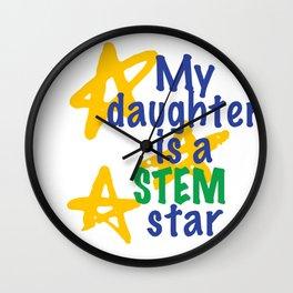 STEM star Wall Clock