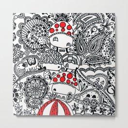 Red Huts Metal Print
