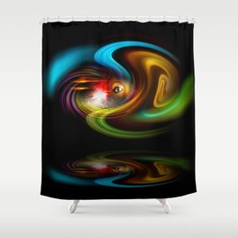 Abstract Perfection - Magical Light And Energy 2 Shower Curtain