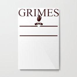 Grimes For President Walking Dead Dixon 2016 Metal Print
