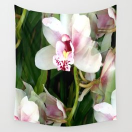 The Gift of an Orchid Wall Tapestry