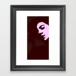 Stamp Geisha  Framed Art Print