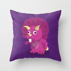 The Dino-zoo: Rabbit-saurus Throw Pillow