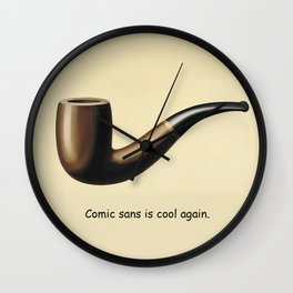 This is not a joke about comic sans. Wall Clock