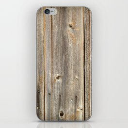 Old Rustic Wood Texture iPhone Skin