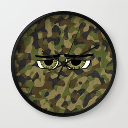 Camo Eyes Wall Clock