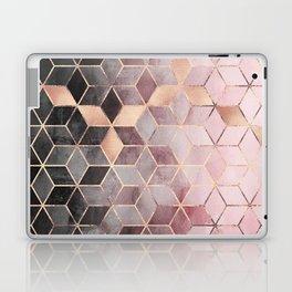 Pink And Grey Gradient Cubes Laptop & iPad Skin