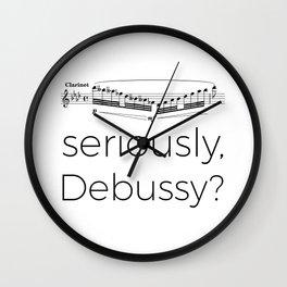 Clarinet - Seriously, Debussy? Wall Clock