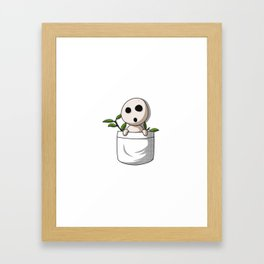 Kodama pocket Framed Art Print