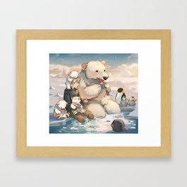 Jack and Polar Bear Framed Art Print
