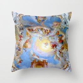 Wieskirche Heaven's Gate Throw Pillow