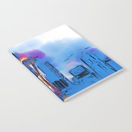 The Space Needle In Soft Abstract Notebook