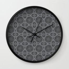 Sharkskin Doily Floral Wall Clock